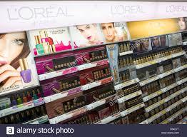 l oreal cosmetics on display at a walgreens flagship in downtown washington dc