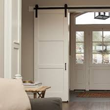 interior sliding barn doors. Interesting Barn 3 Panel Craftsman Sliding Barn Door  Artisan Hardware On Interior Doors