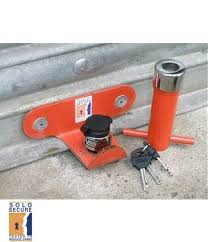 secure a door up over garage door lock