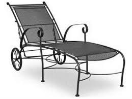 White iron outdoor furniture Painted Chaise Lounges Patioliving Wrought Iron Patio Furniture Made For Longevity Shop Patioliving