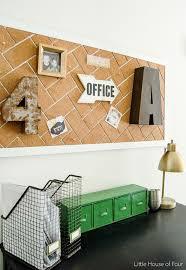 office cork boards. DIY Herringbone Cork Board Office Boards