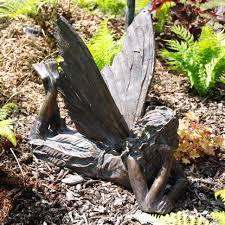 contemplating fairy antique bronze sculpture large garden ornament