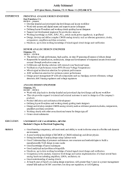 Digital Design Engineer Resume Analog Design Engineer Resume Samples Velvet Jobs 20