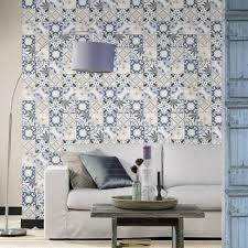 rasch moroccan baroque tile pattern wallpaper realistic faux effect 526325