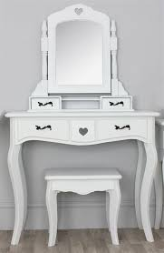 classic carved wooden mirror vanity dressing table with