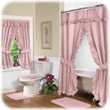 bathroom-pink-double-swag-shower-curtain-with-valance-