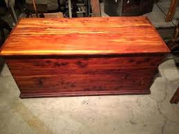 wood antique chest trunk blanket box hope toy trundle coffee table