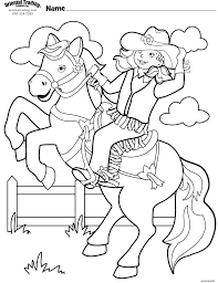 Free Printable Cowgirl Coloring Sheets Bltidm