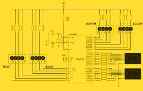 circuit diagram of traffic light controller using 8051 intelligent traffic light control system using 8051 on circuit diagram of traffic light controller using 8051
