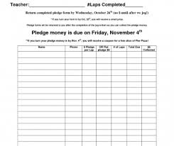 Walk A Thon Form Sheet Marathon Pledge Template Word Walk Thon Form Church Free