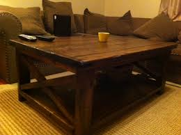 Wonderful Coffee Table:Rustic X Coffee Table Rustic Coffee Tables Free Ideas Download  Square Wood Table Pictures