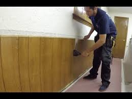 tearing out some 1970 s wainscoting
