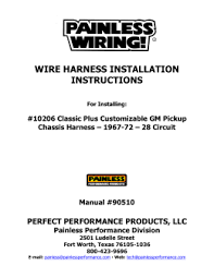 painless wiring harness instructions painless painless wiring manual 90501 painless image wiring on painless wiring harness instructions