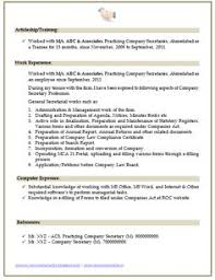 Company Secretary Resume Sample (2)