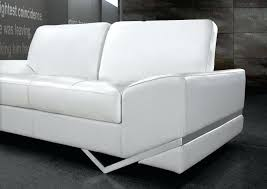 contemporary white sofa image of modern leather sofas trina table whitechrome