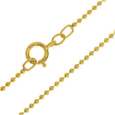finished ball chain necklace 1 2mm links with spring ring clasp 18 inches 14k gold filled finished chain necklaces chain jewelry making supplies