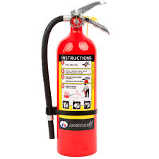 dry chemical abc fire extinguisher with wall bracket
