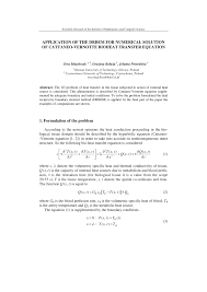 of the drbem for numerical solution of cattaneo vernotte bioheat transfer equation pdf available