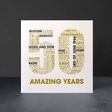 Personalised Golden Wedding Anniversary Card By Mrs L Cards