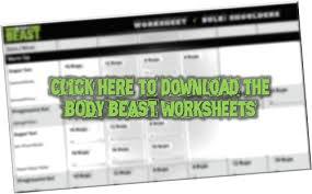 Body Beast Worksheets Pdf Download