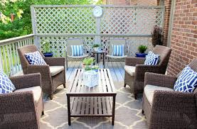simple and outdoor rug design for patios with wicker furniture