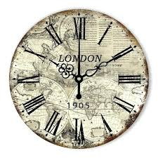 wall clock wall clock london vintage silent decor clocks world map large modern design home decoration