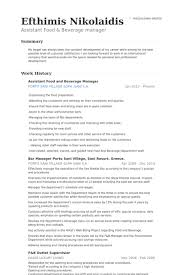 Food Science And Technology Resume Sales Food And