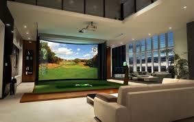 home design simulator. golf simulation as art. bobbi bulmer - modern media room design. home design simulator e