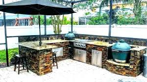 creative outdoor kitchens affordable big green egg kitchen ideas