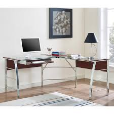 l shaped home office. monarch black metal l shaped computer desk with tempered glass throughout top home office