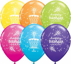 Birthday Cake & Candle Balloons Birthday Balloons 25pc