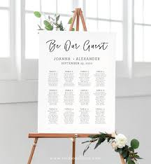 Wedding Seating Chart Sign Be Our Guest Sign Printable