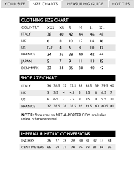French Sizing Vs Italian In 2019 Clothing Size Chart