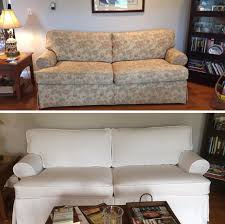 couch slipcovers before and after. Fine Couch Before U0026 After On Couch Slipcovers And I