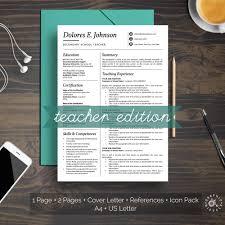 Teacher Resume Template Professional Minimalist Design Cv