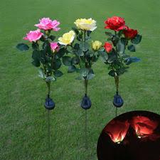 amazing garden lighting flower. Outdoor Solar Powered Flower Light 3 LED Rose Stake Lamp Home Garden Yard  Decor Amazing Garden Lighting Flower G