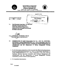 Sample Of School Memorandum - April.onthemarch.co