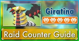 Giratina Altered Forme Raid Counter Guide Pokemon Go