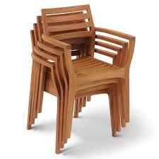 gorgeous stackable wooden chairs of the wegner inspired stacking deck hammacher schlemmer