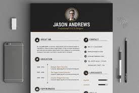 The Elegant Resume Cv Set Template Resume Templates Creative