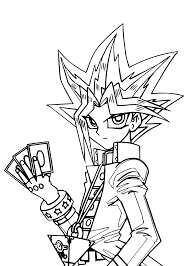 Print actual size yugioh cards tutorial. Free Printable Yugioh Coloring Pages For Kids