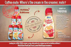 Caseinate is a common ingredient in nondairy milk substitutes. Coffee Mate Where S The Cream In The Creamer Mate Nutrition You Can Trust