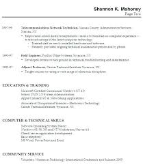 Resume For Work