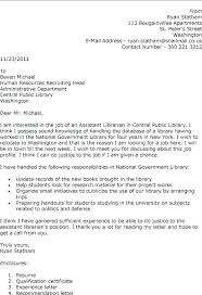 Sample Library Director Resume Cover Letter For Library Director Job