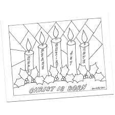 Coloring Pages Advent Wreath Coloringees Adventwreath By Bev
