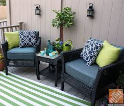patio furniture small deck. Small Porch Decorating Ideas. A Way To Re-upholster (or Make Again) Our Outdoor Furniture Cushions! Patio Deck