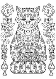 Cat Coloring Pages Adults Coloring Pages