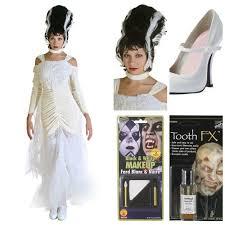 bride of frankenstein costume women s transylvania wig y white heels