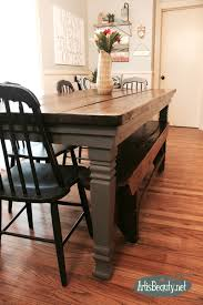 diy build your own farmhouse table legs makeover general finishes driftwood gray painted furniture
