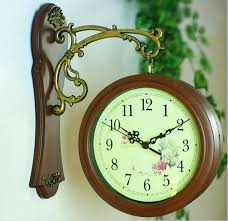 two sided wall clock double sided wall clock nostalgic french wall clock vintage nostalgic wall decoration
